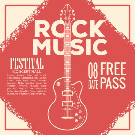 Rock musica festival flyer icon vector illustration graphic design Illustration