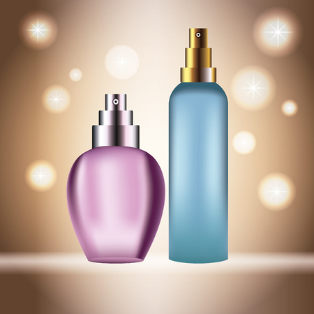 Fragrances products bottles icon vector illustration graphic design