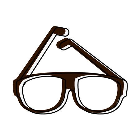 Fashion lens glasses icon vector illustration graphic design Illustration