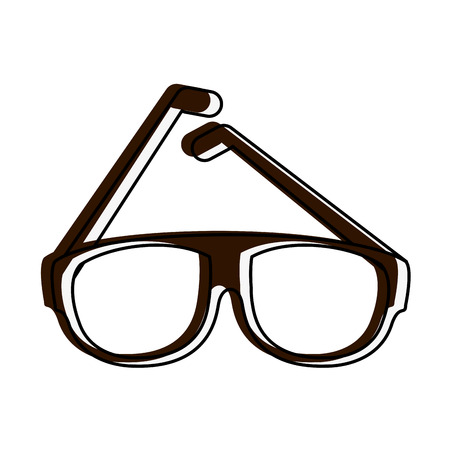 Fashion lens glasses icon vector illustration graphic design Illustration