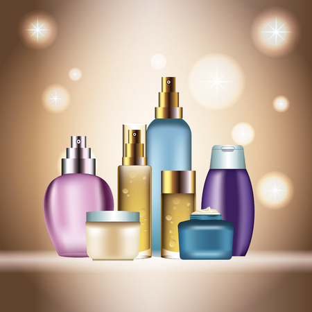 Fragrances products bottles icon