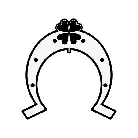 Lucky horseshoe symbol icon vector illustration graphic design