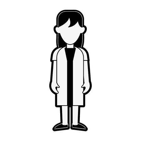 Woman doctor cartoon icon vector illustration graphic design