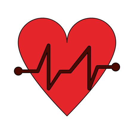 lifeline: Heart medical symbol icon vector illustration graphic design