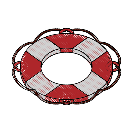 safety belts: Lifesaver float symbol icon vector illustration graphic design