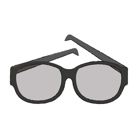 Lens glasses isolated icon.