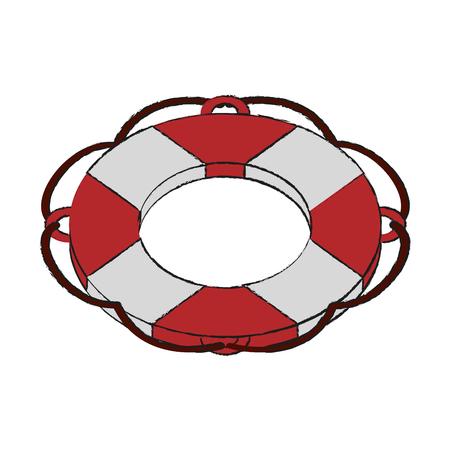 Lifesaver float symbol icon vector illustration graphic design