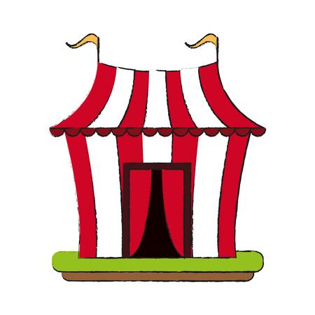Circus carnival tent icon vector illustration graphic design
