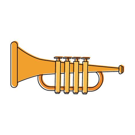 Trumpet music instrument icon vector illustration, graphic design.