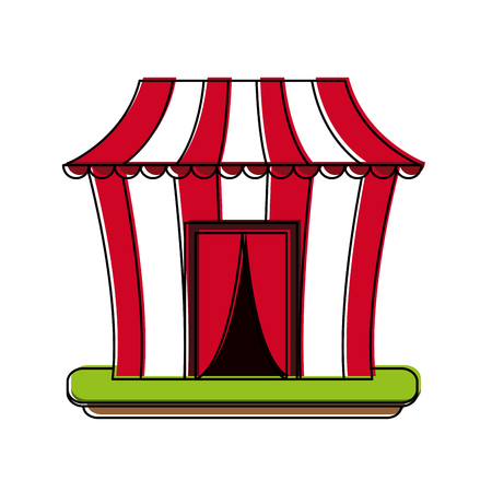 Circus carnival tent icon.