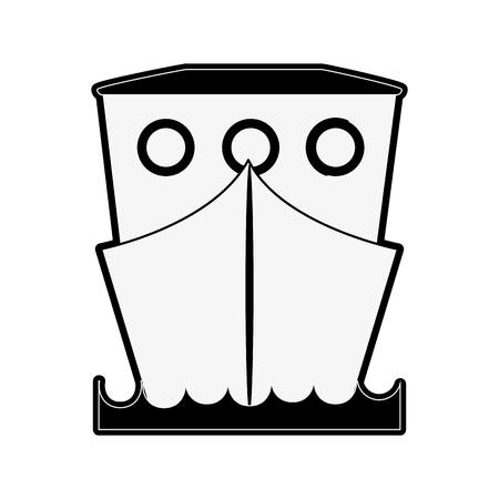 Frachterschiffsbootsikonenvektor-Illustrationsgrafikdesign. Standard-Bild - 89546035