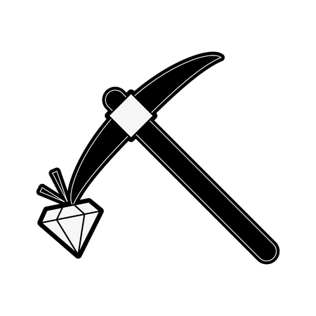 Pick construction tool icon vector illustration graphic design.