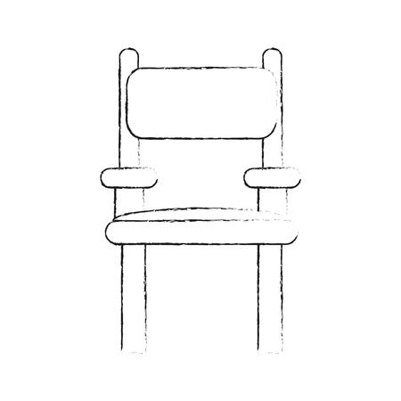 Director wooden chair icon vector illustration graphic design. Illustration