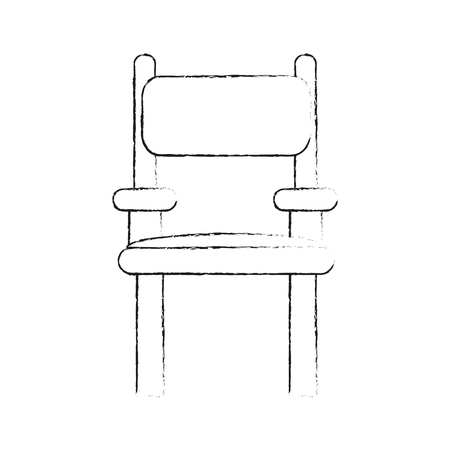 Director wooden chair icon vector illustration graphic design. Illustration