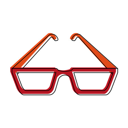 Executive glasses isolated icon vector illustration graphic design Illustration