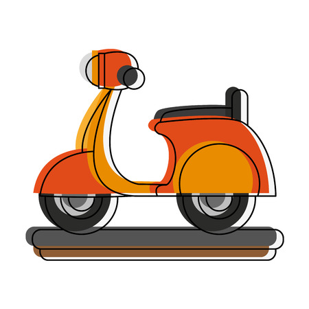 Scooter delivery motorcycle icon vector illustration graphic design