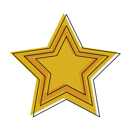 star shape symbol icon vector illustration graphic design Illustration