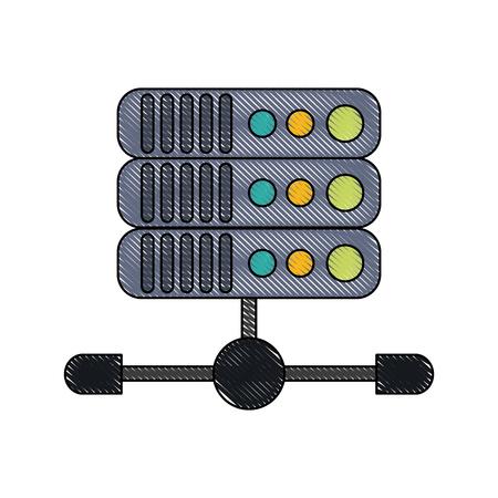 Internet servers technology icon vector illustration graphic design