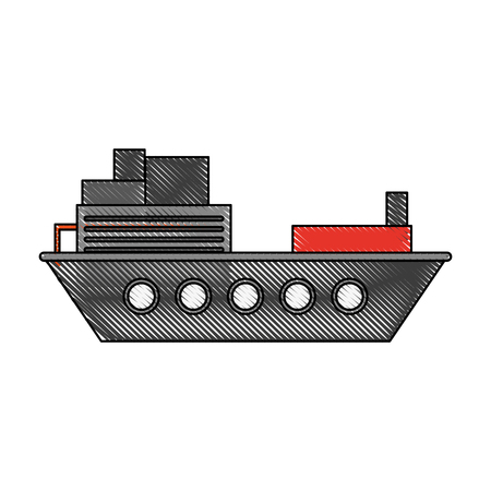 Freigther ship boat icon vector illustration graphic design Illustration