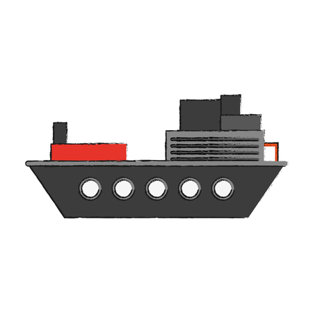 Freight ship boat icon vector illustration, graphic design.