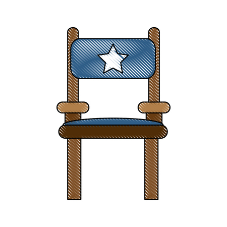 vintage furniture: Director wooden chair icon vector illustration graphic design