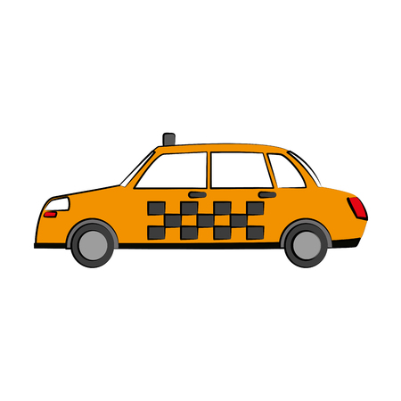 Taxi cab vehicle icon. Illustration