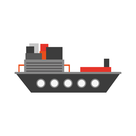 Freigther ship boat icon vector illustration graphic design Иллюстрация