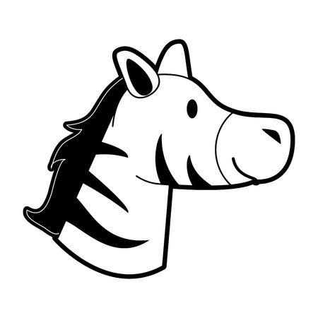 Cute zebra cartoon icon vector illustration graphic design
