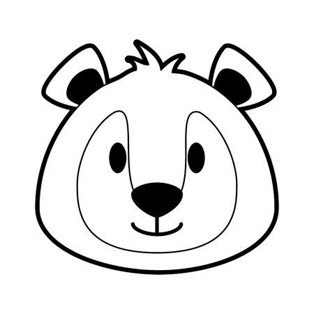 Cute bear cartoon icon vector illustration graphic design Illustration