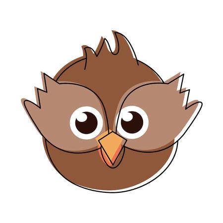 Cute owl bird cartoon icon vector illustration graphic design