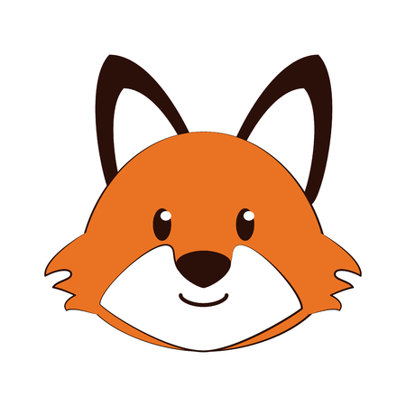 cute: Cute fox cartoon icon vector illustration graphic design Illustration