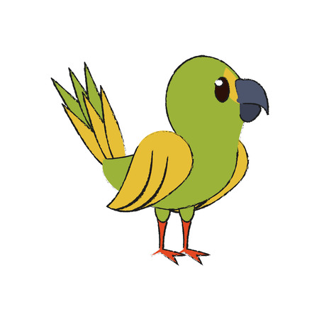 Cute parrot bird cartoon icon vector illustration graphic design Illustration