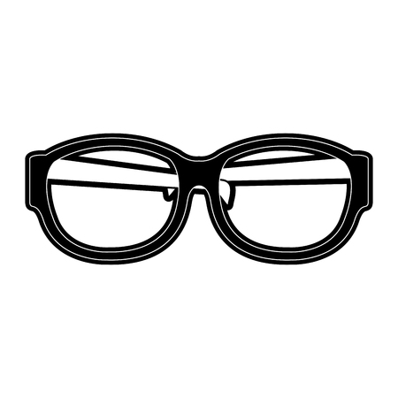 Lens glasses isolated icon vector illustration graphic design