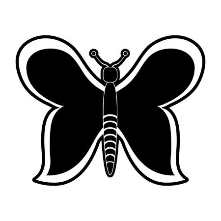 Beautiful buttefly symbol icon vector illustration graphic design Illustration