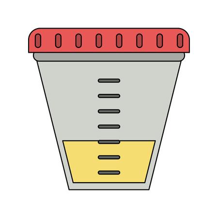 Urine test container icon vector illustration graphic design Illustration