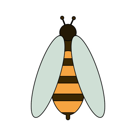 Cute bee symbol icon vector illustration graphic design