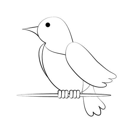Cute bird cartoon icon vector illustration graphic design Illustration