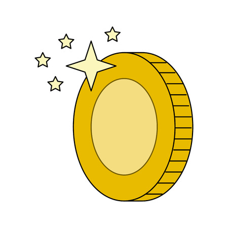 동전 게임 항목 아이콘 벡터 일러스트 그래픽 디자인 일러스트
