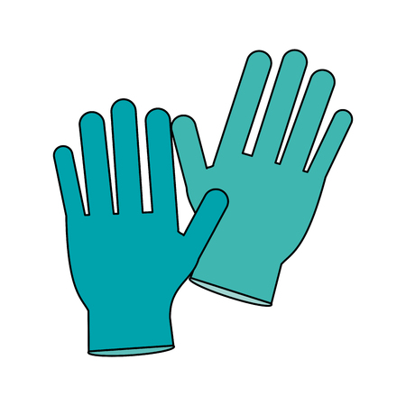 surgical glove: Medical latex gloves icon vector illustration graphic design
