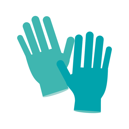 Medical latex gloves icon vector illustration graphic design