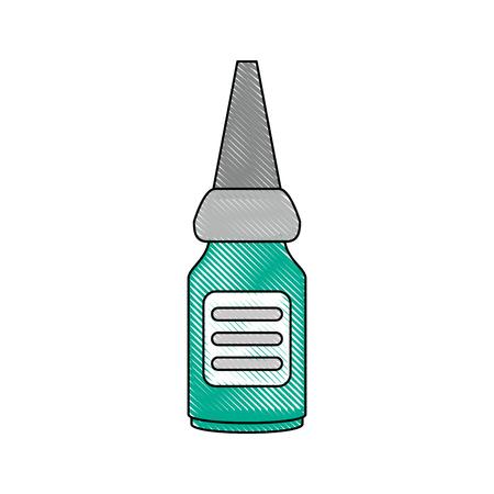medicine dropper bottle icon vector illustration graphic design
