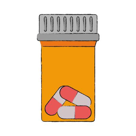 Medicine bottle isolated icon vector illustration graphic design