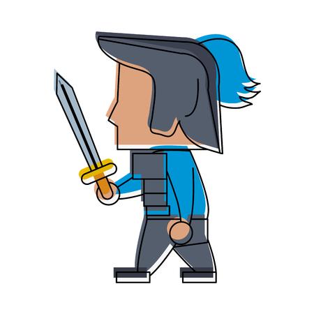 Warrior game item icon vector illustration graphic design