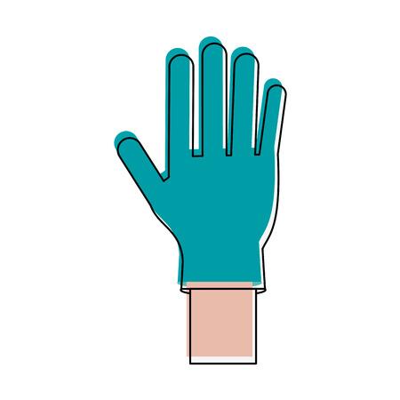 surgical glove: Medical latex glove icon vector illustration graphic design Illustration