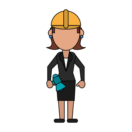 sociologia: Business woman faceless avatar icon vector illustration graphic design