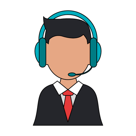 man call center icon vector illustration graphic design