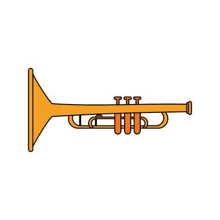 acoustics: Trumpet music instrument icon vector illustration graphic design