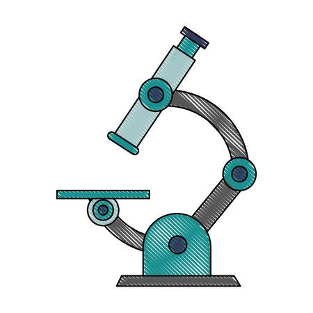 Microscope lab tool icon vector illustration graphic design