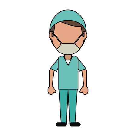 Surgeon faceless avatar icon vector illustration graphic design