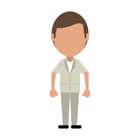 Doctor faceless avatar icon vector illustration graphic design Illustration
